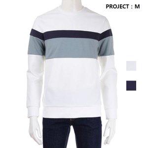 남성용 베이직 컬러 블록 맨투맨 티셔츠(EPZ1TR1302_IL)