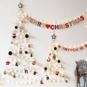 앵두전구 100구 벽트리 220V (블랙) 크리스마스