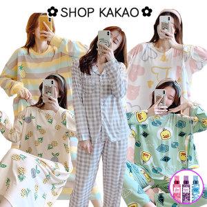 1+1 여성잠옷 가을잠옷 홈웨어 원피스 파자마 바지