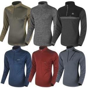 가을겨울 남성 등산티셔츠 등산복 기모 목폴라 작업복