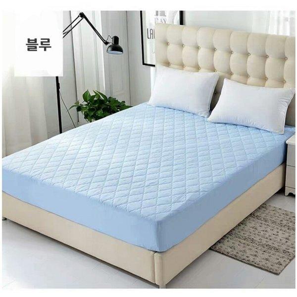 방수디자인 매트리스 커버 침대커버 블루90x200cm