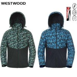 (현대백화점)웨스트우드 WJ1MCJW215 남성 2컬러 봄가을 배색 프린트 방풍 점퍼