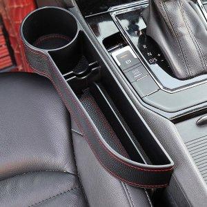 차량용 틈새 수납함/사이드 포켓/컵홀더/블랙 (운전석)