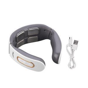 목마사지기 목 어깨 경추 안마기 온열기능 USB 화이트