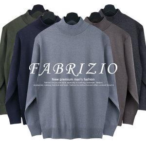 FABRIZIO반폴라울니트-남성 폴라티 국내산 스웨터