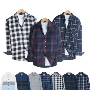 빅사이즈 120 130 긴팔남방/셔츠/체크/남자옷/청남방