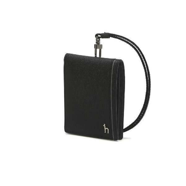 (현대백화점)헤지스핸드백 HJHO0E332BK 블랙 라인배색 소가죽 카드홀더