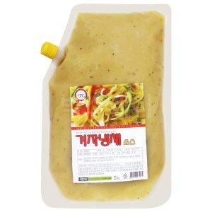 텃밭 겨자냉채소스 2kg/겨자소스 냉채양념 해파리냉채