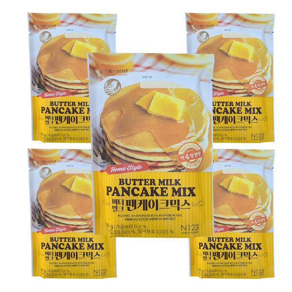 노브랜드 버터밀크 팬케이크 믹스 180g  5개