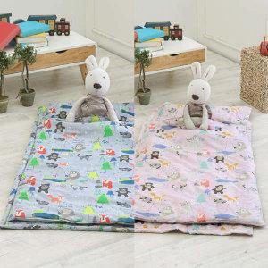 (현대Hmall)올리키즈 14종중택1 NEW유아용 순면 일체형 낮잠이불세트+베개솜포함