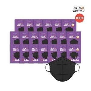 크린조이   블랙 100매  KF94 보건용마스크 대형 100매