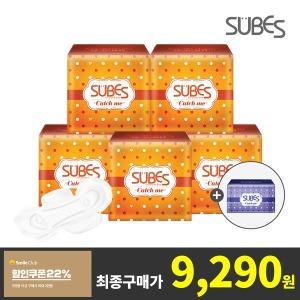 슈베스 생리대 5팩+슈퍼롱 오버나이트 6p 증정
