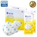 KF80 고래무늬 미세먼지 마스크 소형 50매 개별포장