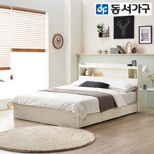 팬타 LED 1단 3서랍 SS수납침대+양면매트 DF642005