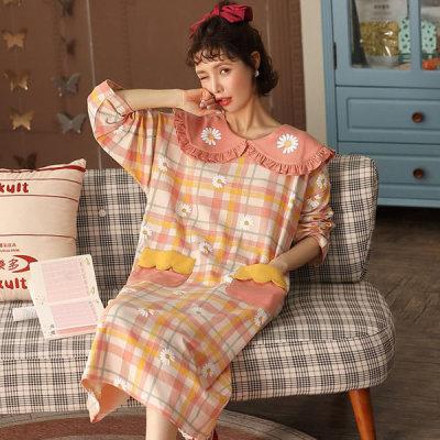 원피스 잠옷 핑크플라워 면파자마 홈웨어 PDS815