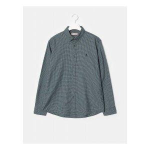 빈폴   멘   SLIM  네이비 브러시드 코튼 3도 체크 셔츠 (BC0964A14R)