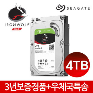 4TB Ironwolf ST4000VN008 NAS 하드디스크 +당일출고