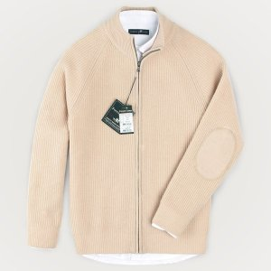 FOREST CAMP Lambswool Zip-Up Cardigan/램스울 집업 가디건/∼4XL FCSW9403-Beige best quality