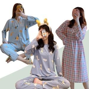 수맘 가을신상 파자마 잠옷세트 홈웨어 원피스