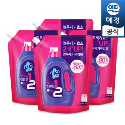 [리큐] 액체세탁세제 반만쓰는 리큐 1.7Lx4개(일반용)