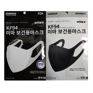 미마 보건용마스크 KF94 중형 1매-블랙