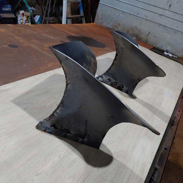 트랙터 배토기날2개(날높이33cm세로42cm날폭50cm)B형+