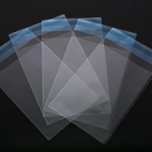 OPP 소형 접착식 비닐 포장 봉투 80x140+40/400매