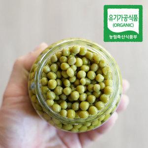 바로먹는 유기농 완두콩 350g (고형량 230g) 유리병
