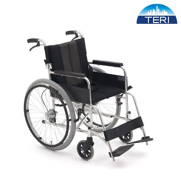 알루미늄 실속형 휠체어 TE-02 브레이크 등받이 접힘