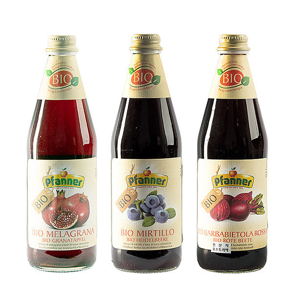 파너 석류 블루베리 비트루트 유기농 과일 음료 3종