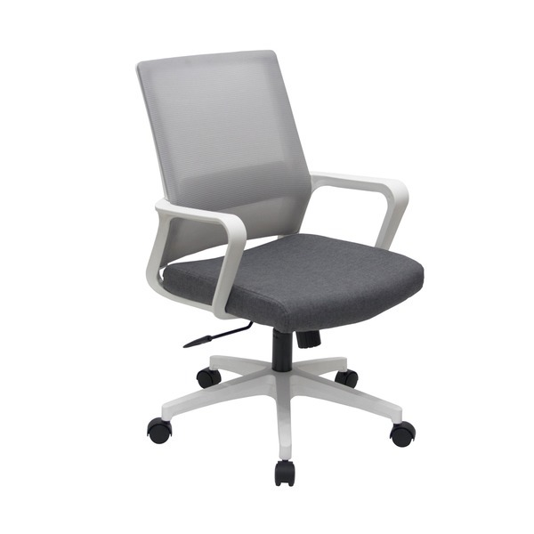 노블 화이트프레임 사무실 책상 메쉬 컴퓨터의자