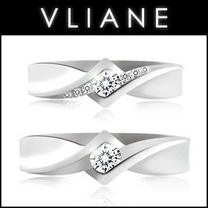 VLIANE 브리앙 14K 스튜어트 다이아몬드 커플링