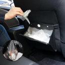 차량용 휴지통 자동차 쓰레기통 포켓 용품 뒷좌석형
