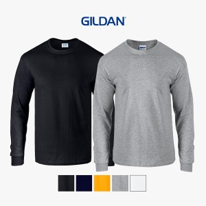 길단 루즈핏 오버핏 시보리 긴팔 라운드 US핏 티셔츠
