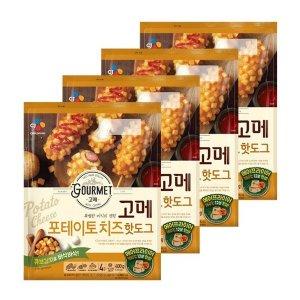 eTV  초특가 고메 포테이토치즈 핫도그400g 4봉