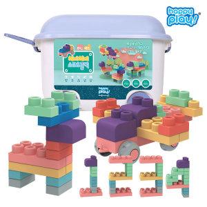 유아블럭 해피 소프트블록 장난감 80pcs / 블럭장난감