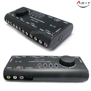 AV 비디오 오디오 선택기 4단 AV셀렉터 셀렉터스위치