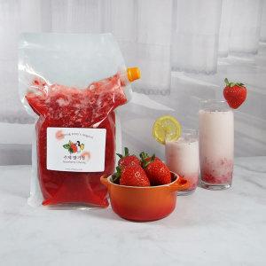 국내산 딸기로 만든 맛있는 대용량 수제 딸기청 2300g