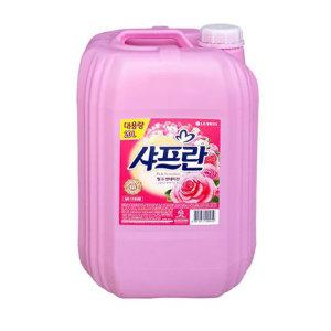 샤프란 핑크센세이션 20L 대용량 섬유유연제 섬유린스