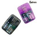 KR-610 USB 멀티 카드리더기 SD micro 메모리 블랙