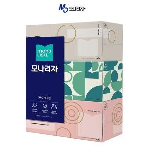 모나리자 각티슈 280매 x 3개 미용티슈/곽티슈/각휴지