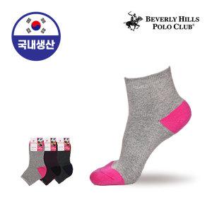 여자/여성/양말/스포츠/등산 폴로클럽 기능성쿠션 단색