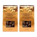 2개 GODIVA 밀크 초콜릿 커버드 캐슈넛 견과류 57 g