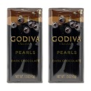 2개 GODIVA 쇼콜라디에 펄스 다크 초콜릿 틴케이스 43 g