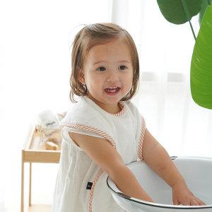 유아 아기 세수 세면 세안 밤부 턱받이 아이워시