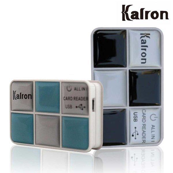 메모리 리더기 SD 마이크로 USB 멀티 CF KR-620 블랙