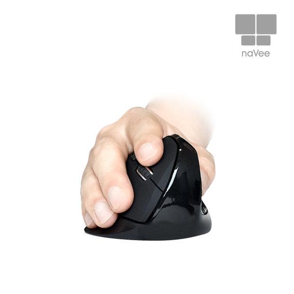 인체공학 버티컬 무선 무소음 마우스 NV72-VMS10G