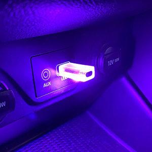자동차 LED RGB USB 터치 무드등 실내등 소리반응