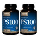 2개 Jarrow PS 100 포스파티딜세린 인지질 100 mg 120 캡슐