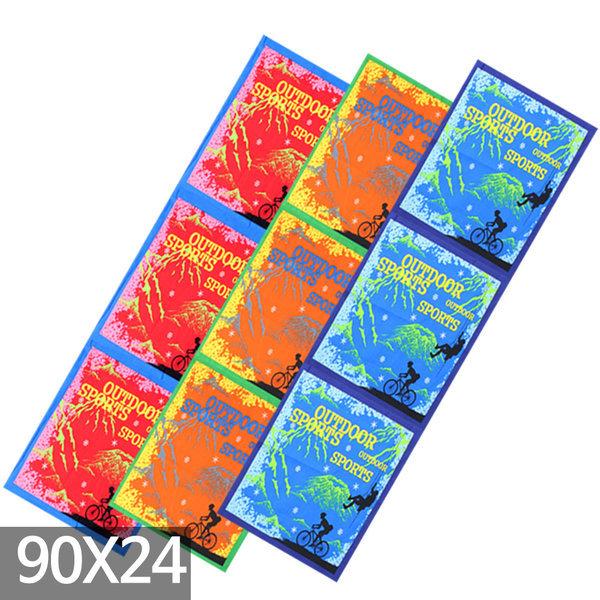 헨리모리스 면60수 등산손수건 스카프 두건 (90x24)